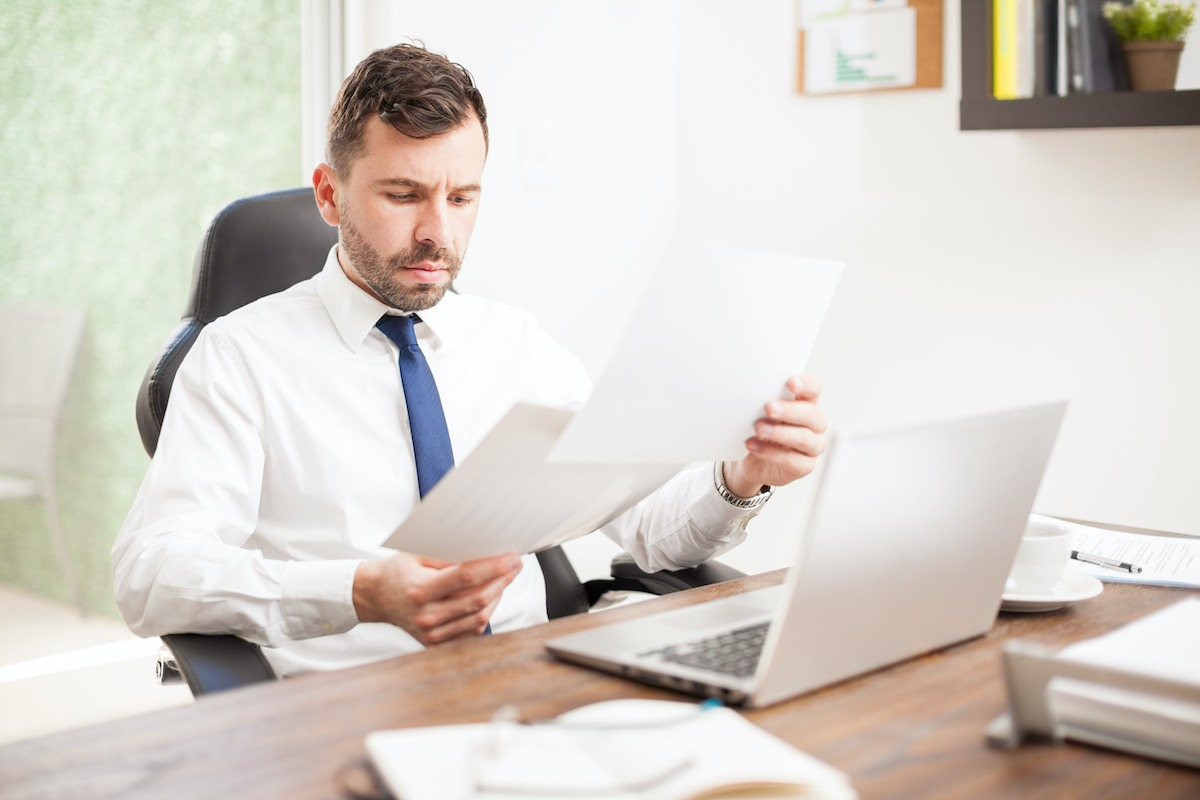 Businessman reviewing some charts